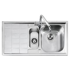 Barazza 1llv100/s Lavello incasso inox 100x50 1 vasca + mezza dx B_level
