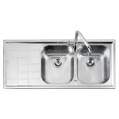 Barazza 1llv120/2s Lavello incasso inox 116x50 2 vasche dx B_level