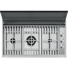 Barazza 1plbc2ti Piano cottura cm. 90 - inox Lab Cover