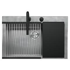 Barazza 1lun81k Lavello incasso inox - cm. 79x51 - 1 vasca kit accessori e rubinetto Unique