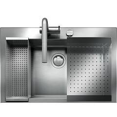 Barazza 1lbo81k Kit lavello incasso inox - cm. 79 x 51 - 1 vasca B_open Kit
