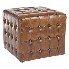 Bizzotto 0720032 - SANPARK Pouf in vera pelle l. 52 x 52 - two