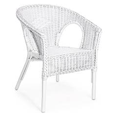 Bizzotto 0671123 Poltroncina in rattan - bianco Alliss
