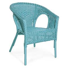 Bizzotto 0671124 Poltroncina in rattan - blu Alliss