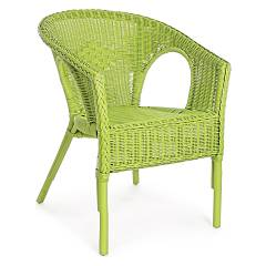 Bizzotto Yes 0671125 Poltroncina in rattan - verde Alliss