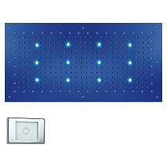 Bossini Wi0372.030 Soffione doccia cm. 100x50 cromoterapia - cromato 1 getto Dream Xl Light Rgb