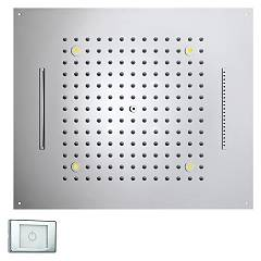 Bossini H38907.030 Soffione doccia a 3 getti con cromoterapia cm. 57x47 - cromo Dream Rectangular Light Rgb