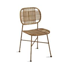Dialma Brown Db006281 Sedia in rattan naturale
