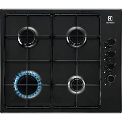 Electrolux Pnl641v Piano cottura a gas cm. 60 - nero griglie smaltate Slim Profile