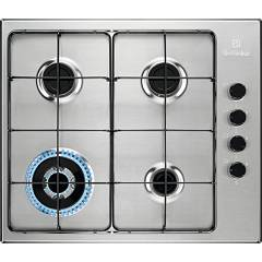 Electrolux Egs6414x Piano cottura a gas cm. 60 - inox antimpronta