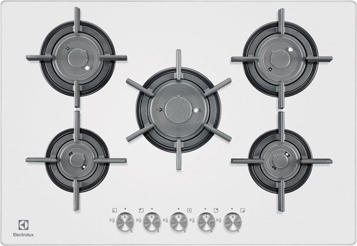 Electrolux PVF750UOB Gas On Glass Verticalflame Piano cottura cm. 75 ...