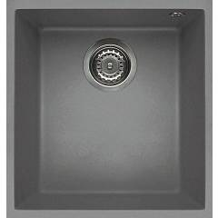 Elleci Quadra 100 Sottotop Lavello sottotop 38 x 44 - keratek plus - light grey Quadra Sottotop