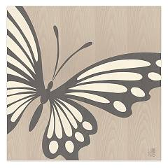 Lignis Animalier Butterfly Cold Quadro cm. 75 x 75 Dolcevita