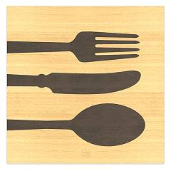 Lignis Objects Cutlery Warm Quadro cm. 75 x 75 Dolcevita