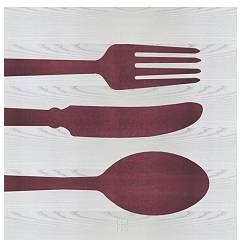 Lignis Objects Cutlery Colors Quadro cm. 75 x 75 Dolcevita