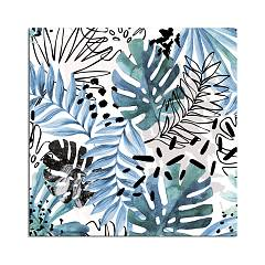 Pintdecor Flowers In Black And Color Quadro cm. 50 x 50 / 100 x 100
