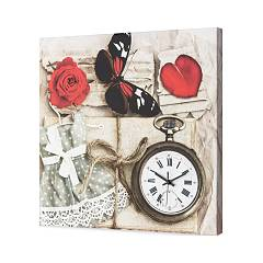 Pintdecor Romantic Orologio cm. 50 x 50
