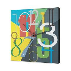 Pintdecor Color Numbers Orologio cm. 40 x 40