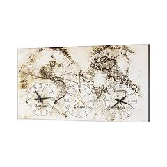 Pintdecor Old Map Orologio cm. 80 x 40 / 140 x 70