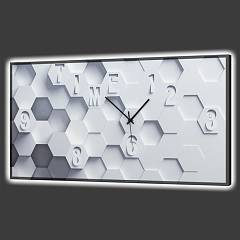 Pintdecor Esagoni In Rilievo Orologio luminoso cm. 80 x 40