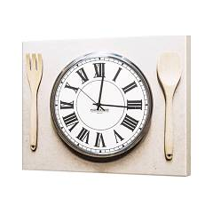 Pintdecor Lunch Time ! Orologio cm. 50 x 40