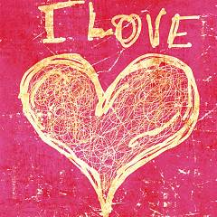 Pintdecor I LOVE YOU Quadro cm. 40 x 40