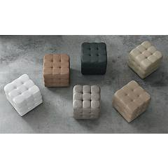 Target Point Pf600 - Cube Pouf rivestito in ecopelle