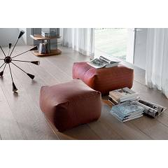 Tonin Casa Truly 7301 Pouf quadro in ecopelle