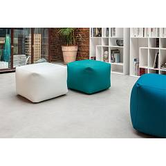 Tonin Casa Truly 7300 Pouf quadro in ecopelle