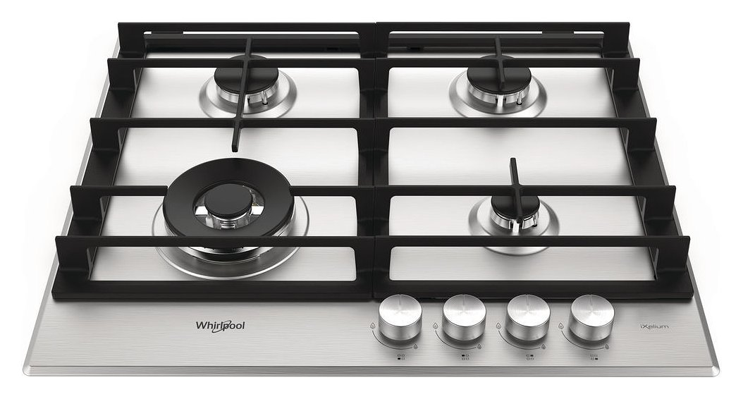 Whirlpool AKW 6422 / IXL piano cottura a gas ad incasso - frontale